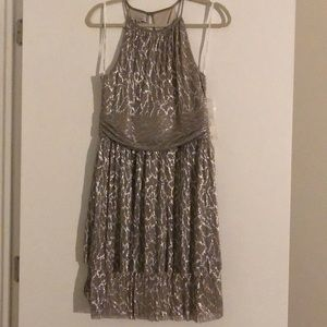 Brand new metallic cocktail dress